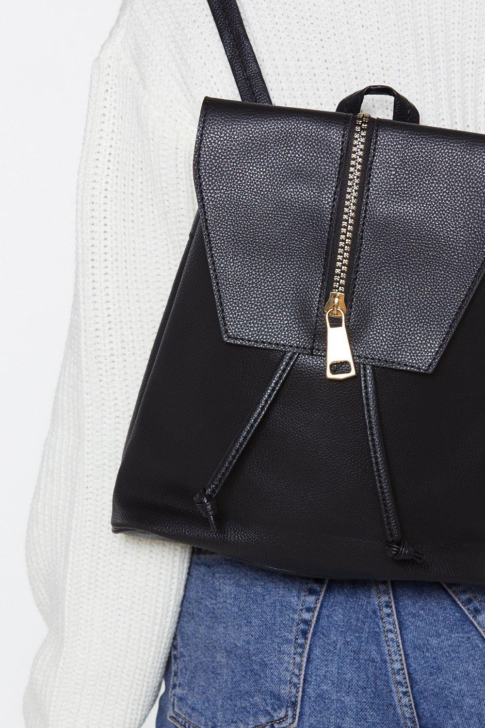 4b74e4378a81 Lyst - Nasty Gal Want Back At You Faux Leather Backpack in Black
