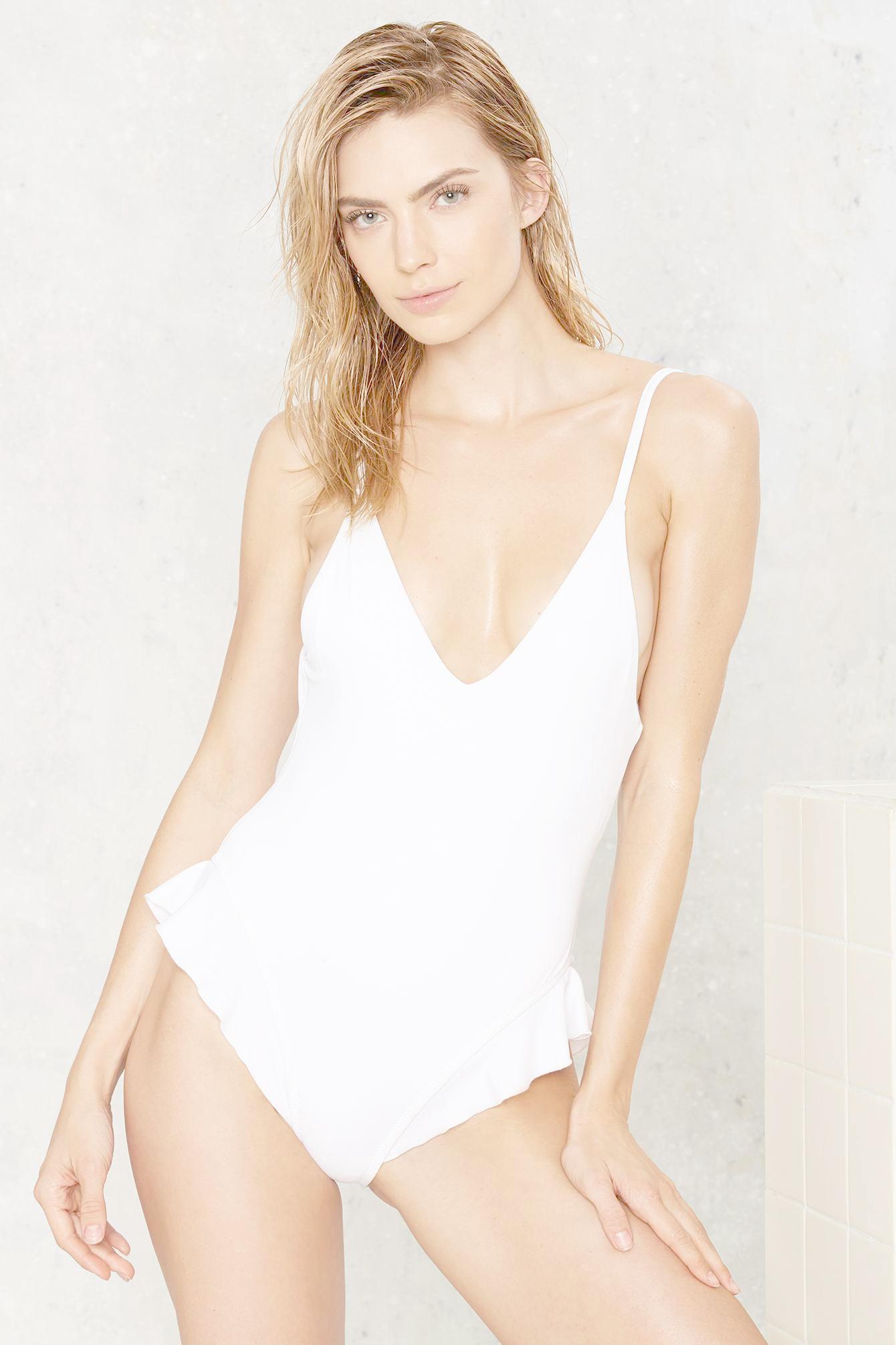 Lyst - Nasty Gal Nadia Ruffle Swimsuit