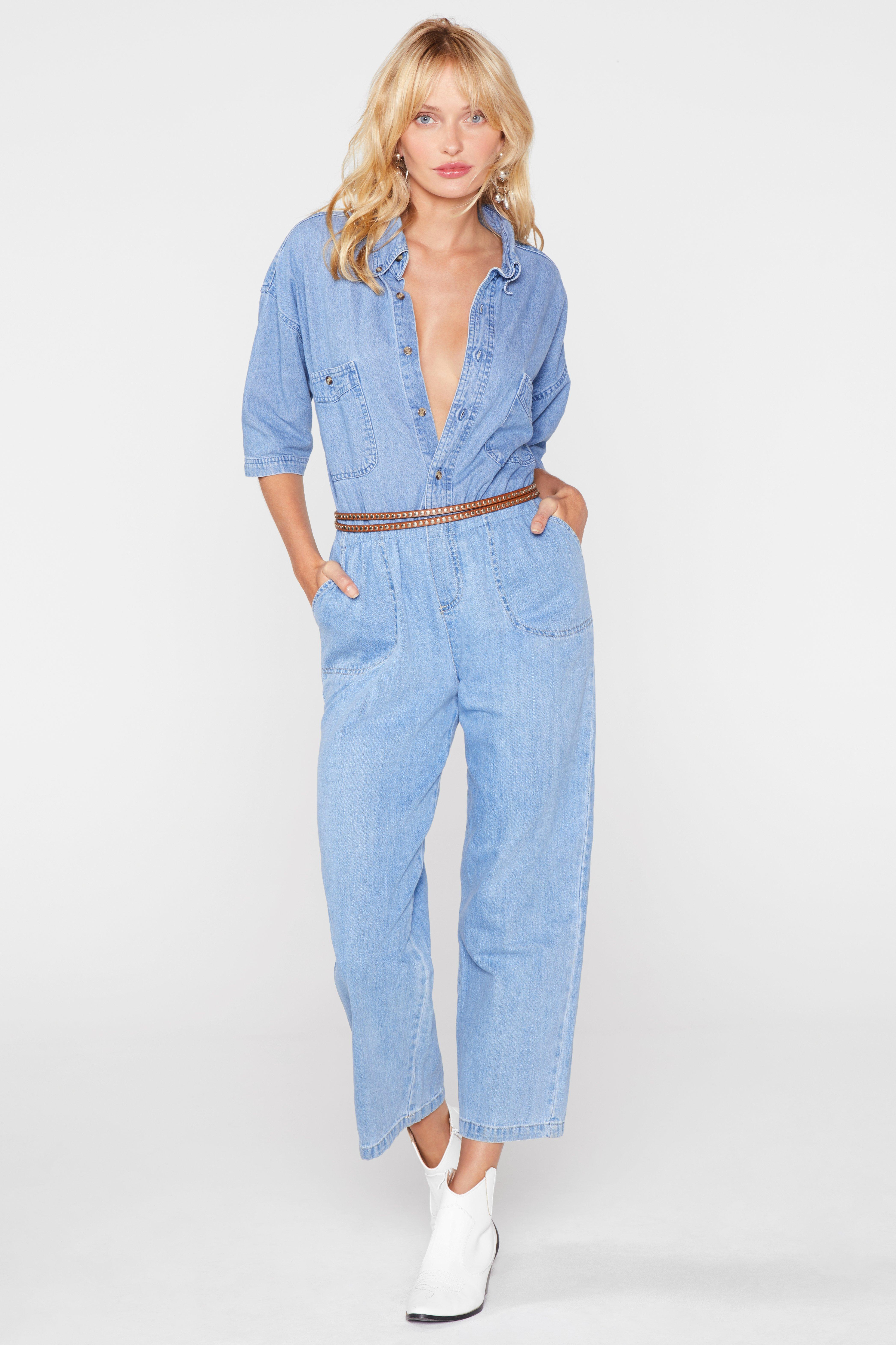 5e40838d611 Lyst - Nasty Gal After Party Vintage All In One Go Denim Boilersuit ...