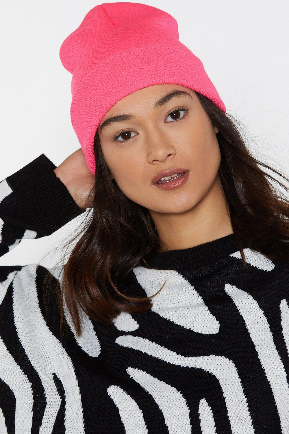 Nasty Gal Rave It Up Neon Beanie in Pink - Lyst ff6ed616f230