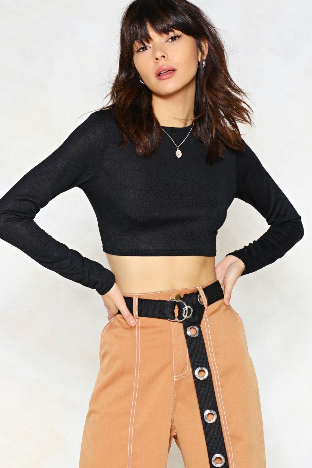 304ff86fbb767 Lyst - Nasty Gal If The Top Fits Crop Top in Black