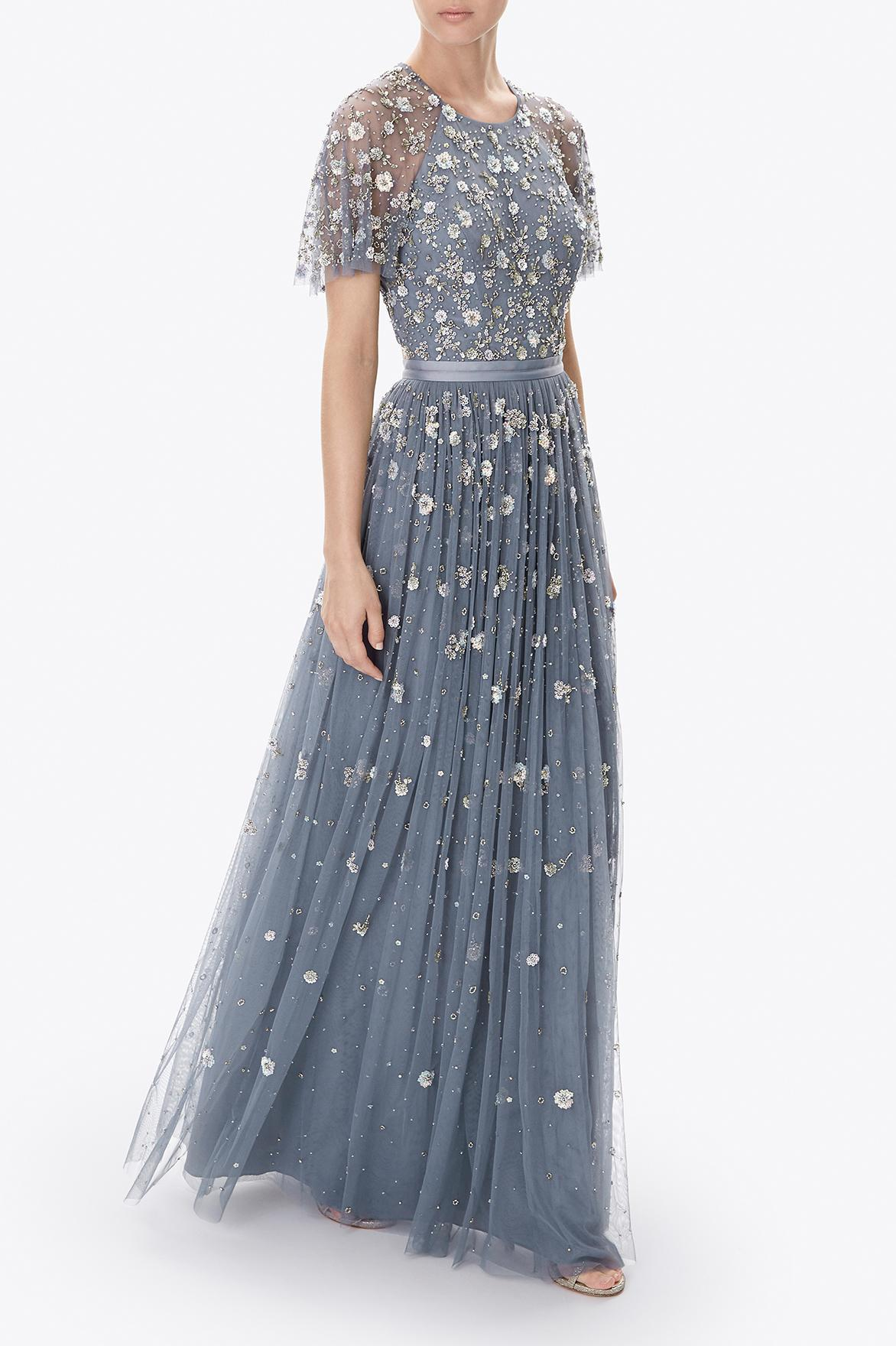 Lyst Needle Amp Thread Comet Gown In Blue