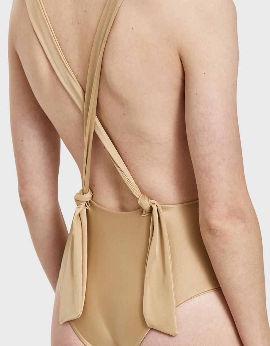dddead07ae98e Haight Marina Maillot in Natural - Lyst