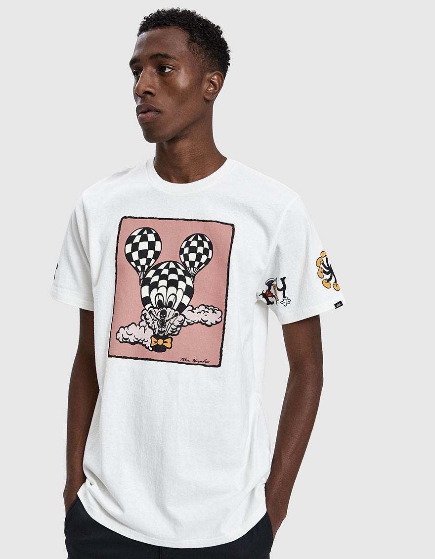 30d7b40042 Lyst - Vans X Disney Mickey s 90th Birthday T-shirt In Natural in ...