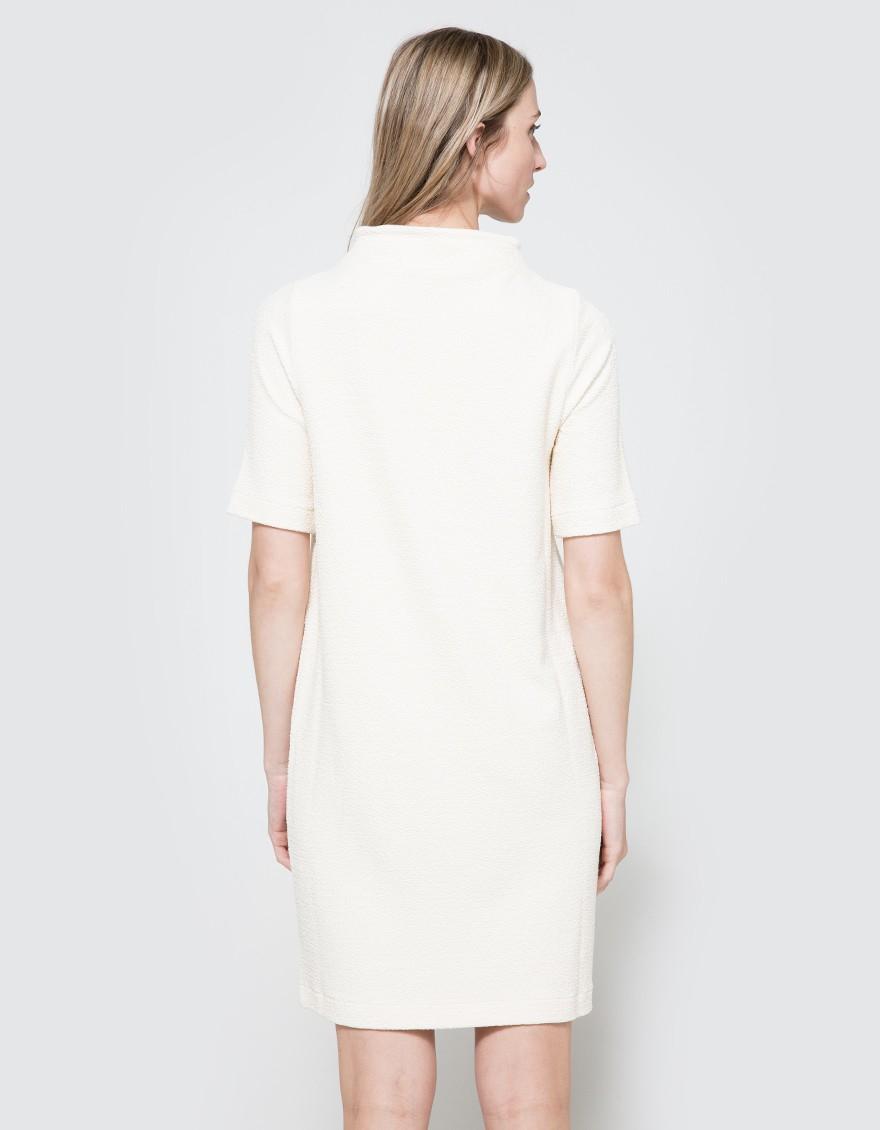 f4387873 Ganni Thompson Dress in White - Lyst