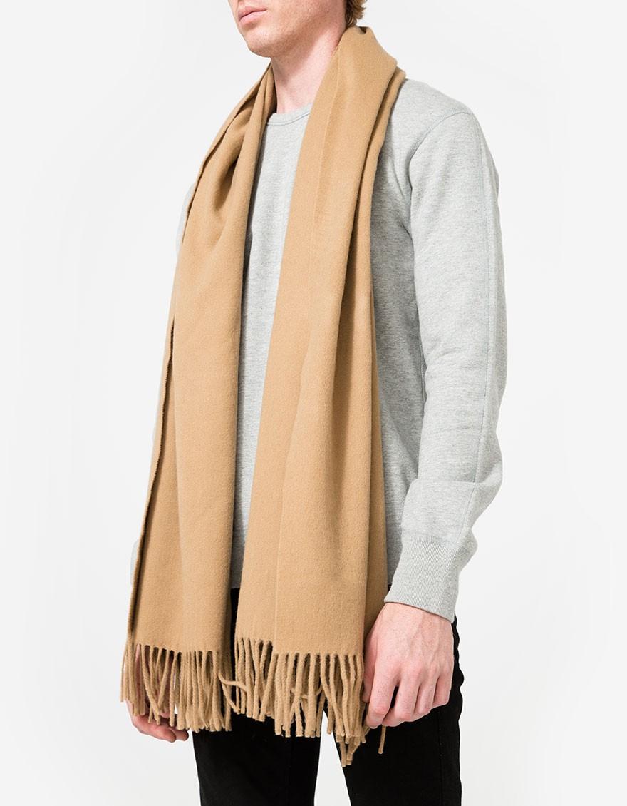 acne studios canada scarf camel lyst