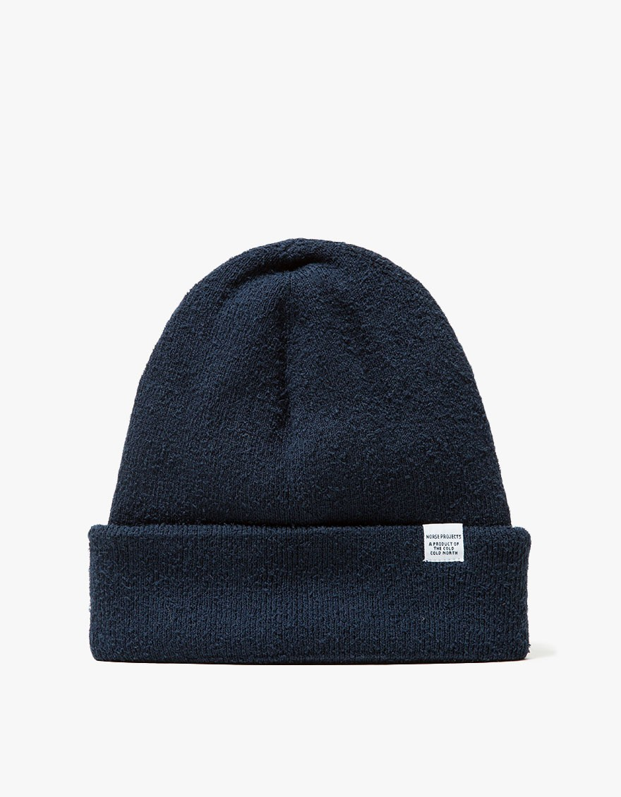 27752ae816d Lyst - Norse Projects Norse Texture Beanie Navy in Blue for Men