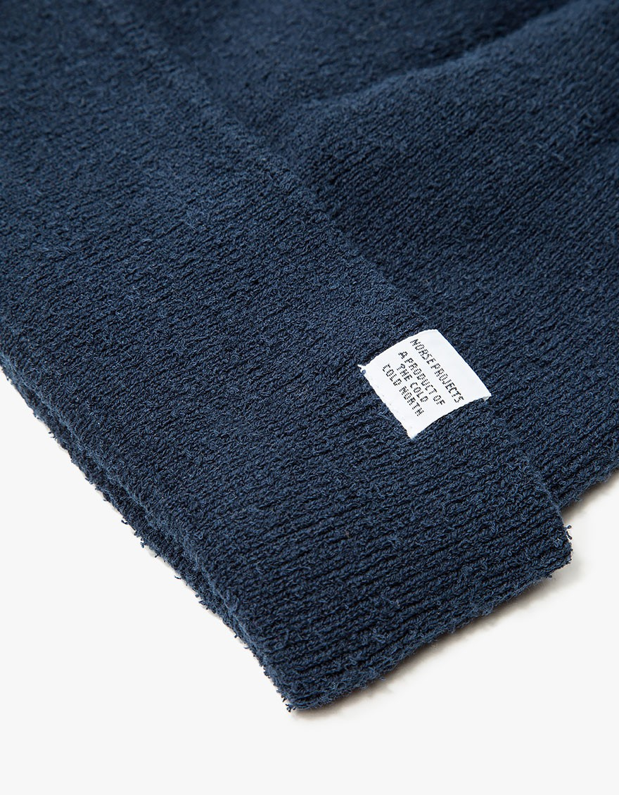 a0a6abb05 Norse Projects Norse Texture Beanie Navy in Blue for Men - Lyst