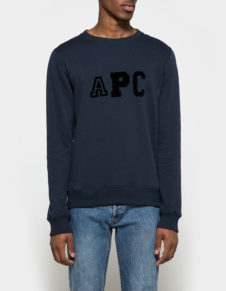 Lyst - A.P.C. College Sweatshirt in Blue for Men