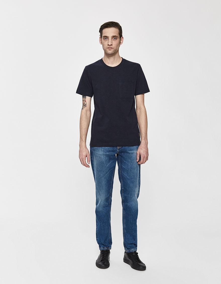 f81f9063 Lyst - Nudie Jeans S/s Kurt Worker Tee in Blue for Men