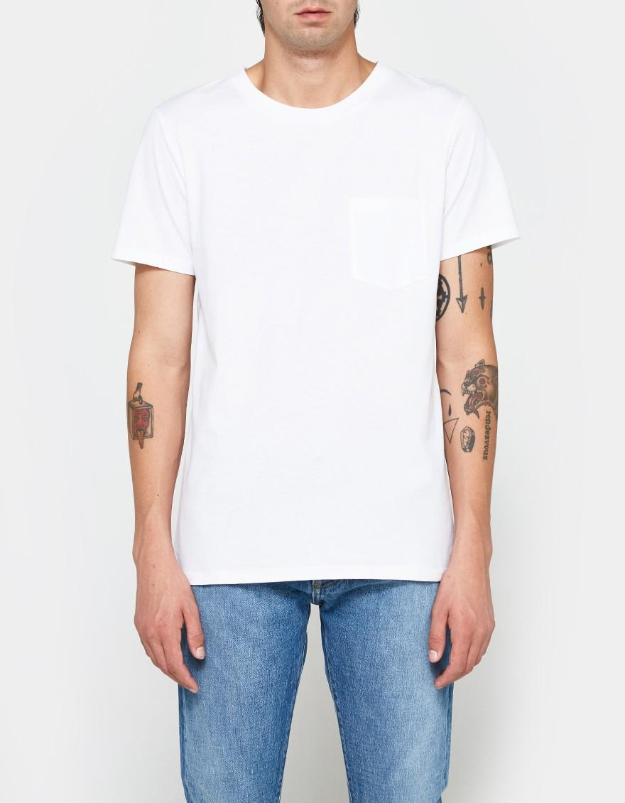 A p c keanu t shirt in white for men lyst for Apc white t shirt