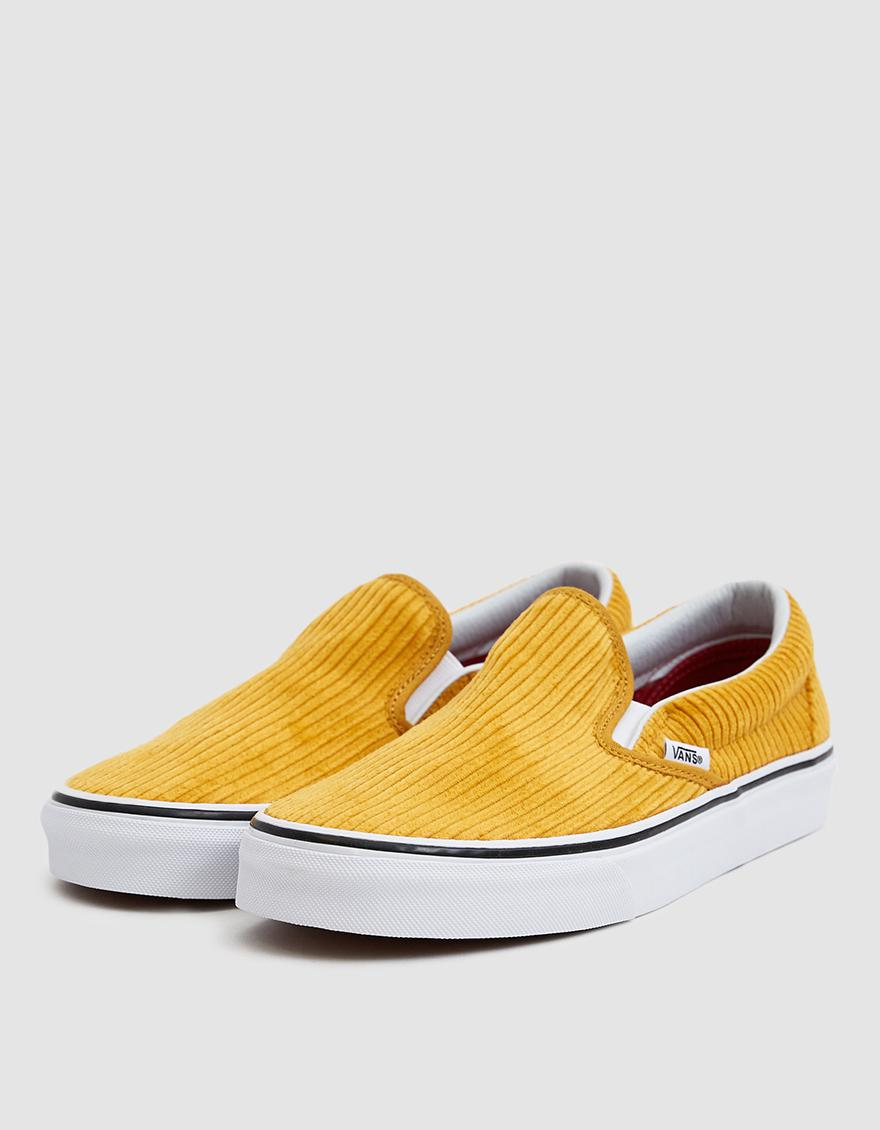 2e345685d3 Lyst - Vans Corduroy Slip-on Design Assembly Sneaker in Yellow