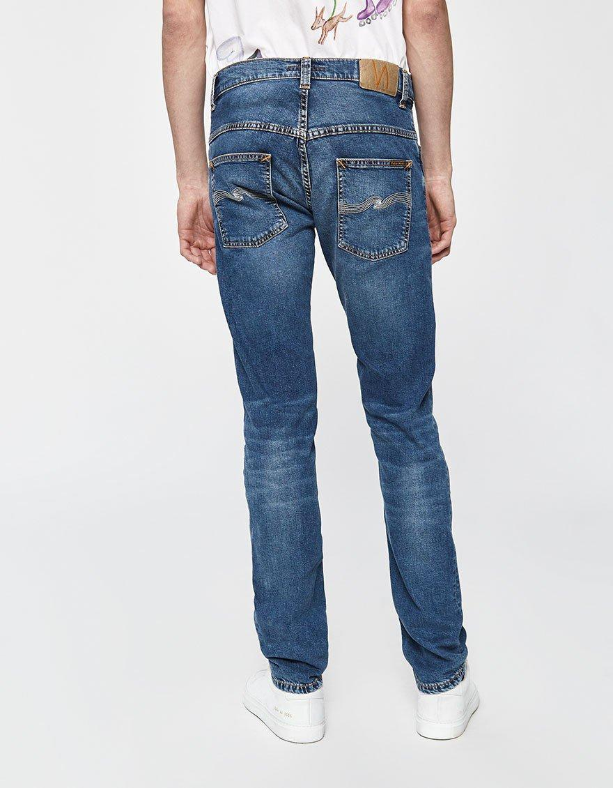 72e66e0b002b Nudie Jeans Thin Finn Mid Blue Ecru Denim in Blue for Men - Lyst