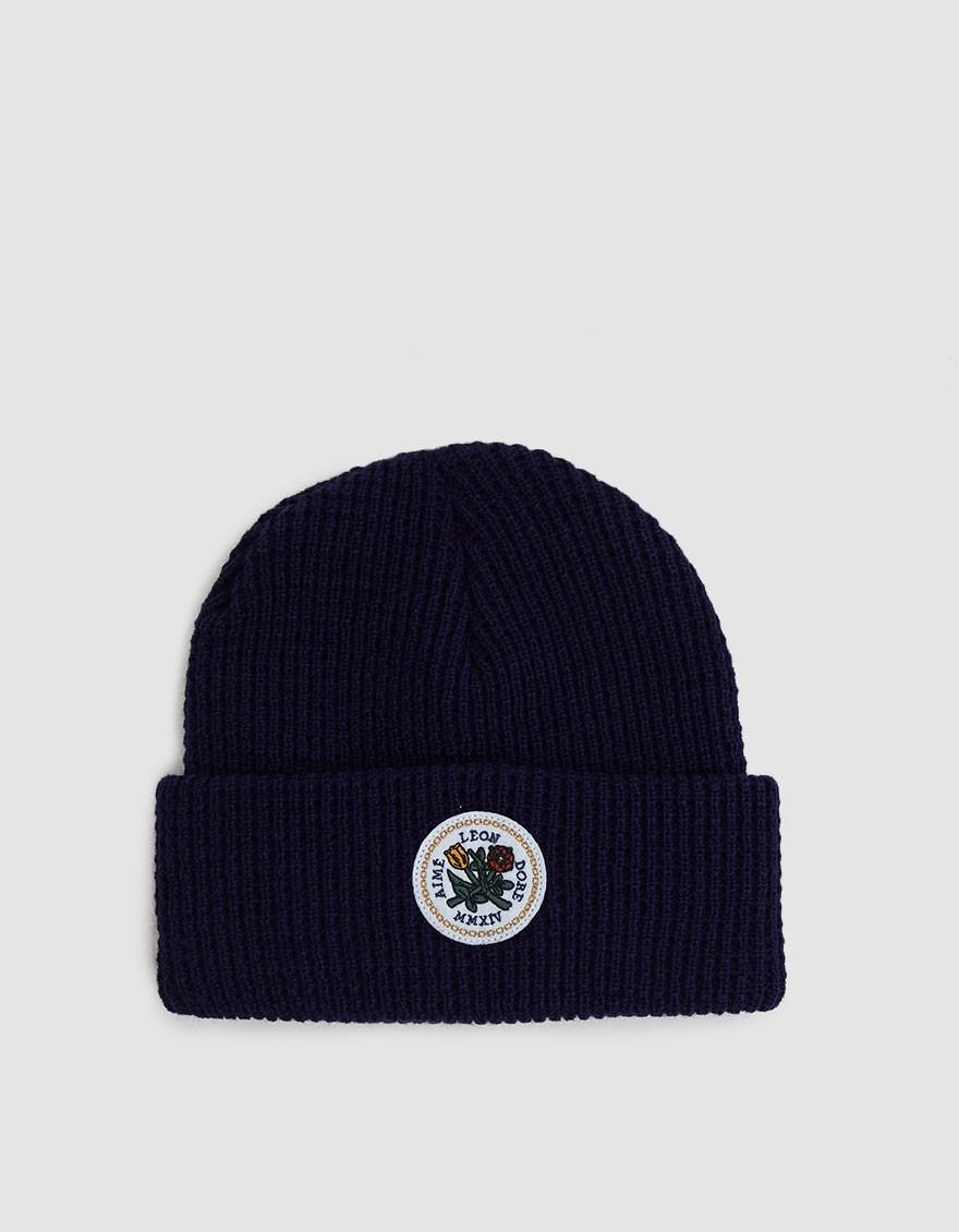 Aimé Leon Dore Waffle Stitch Acrylic Beanie in Blue for Men - Lyst 494e6debadb5