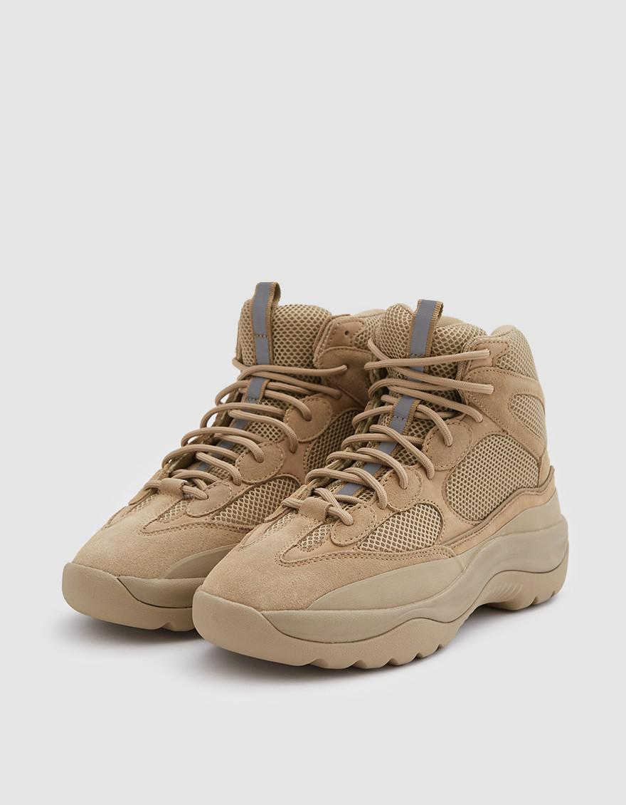 072530204af Lyst - Yeezy Thick Suede Desert Boot In Taupe for Men
