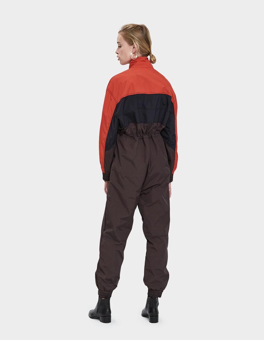 b9193190d72 Ganni Faust Nylon Jumpsuit in Black - Lyst