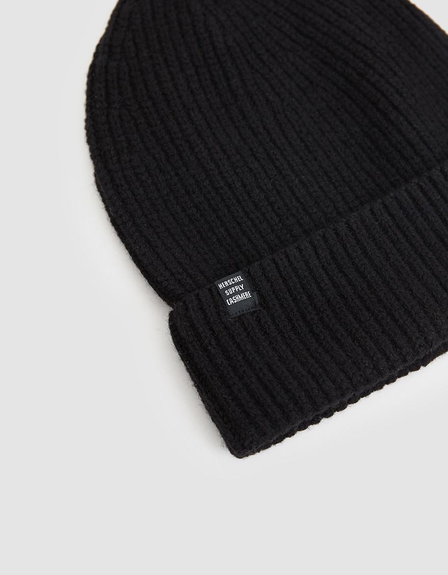 756530ebb16 Herschel Supply Co. Cardiff Cashmere Beanie in Black for Men - Lyst
