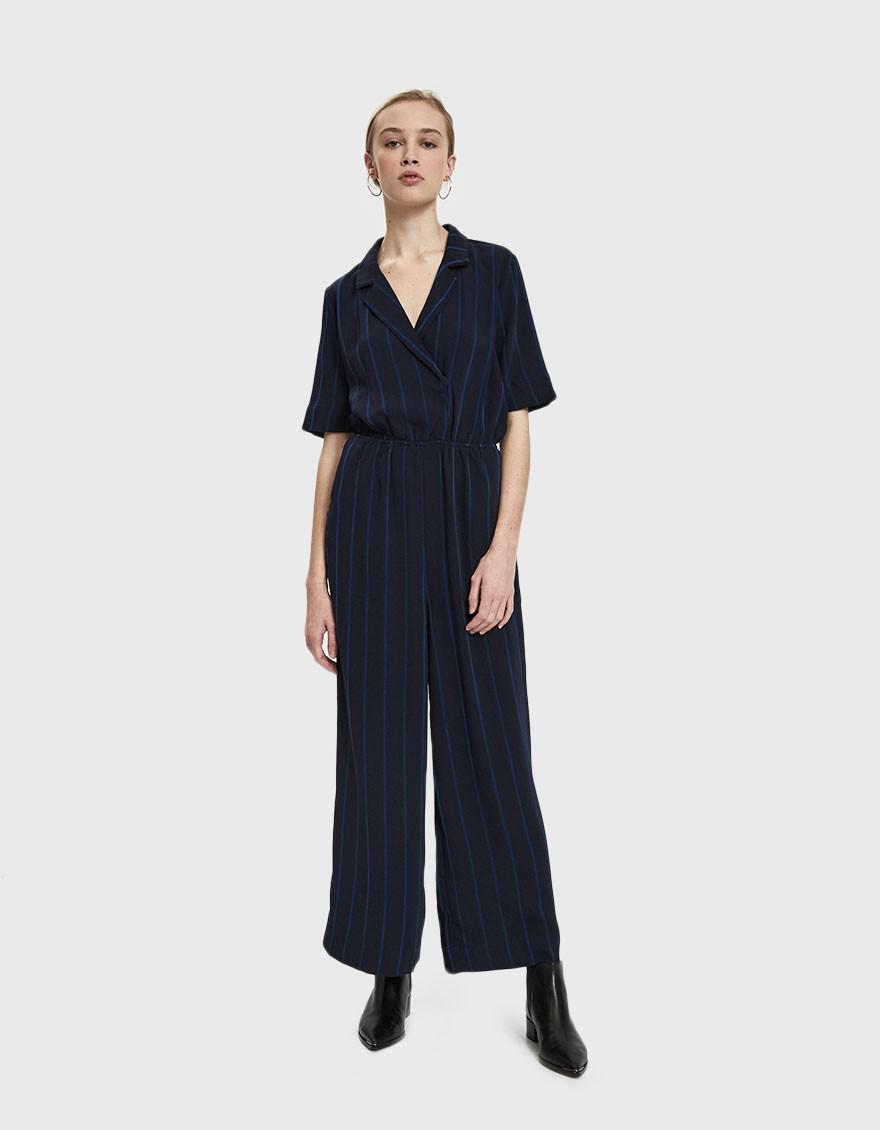 c958680b9788 Just Female Melina Striped Jumpsuit in Blue - Lyst