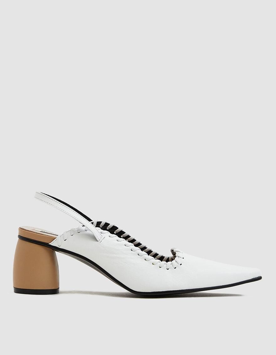 d87a7de536e0c Lyst - Reike Nen Curved Middle Slingback in White - Save ...