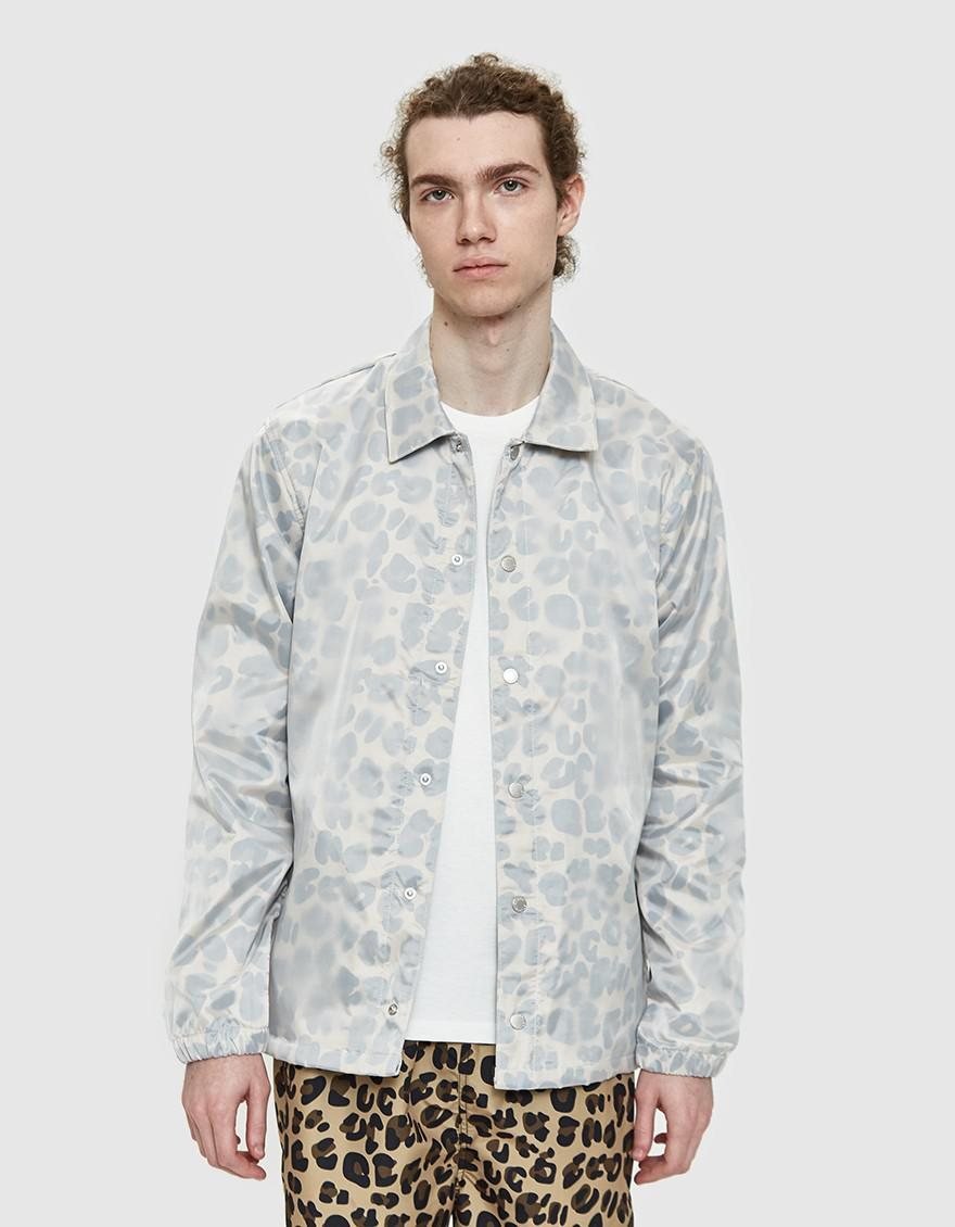 0c7998934f1a Stussy Translucent Coach Jacket In Leopard in Gray for Men - Lyst