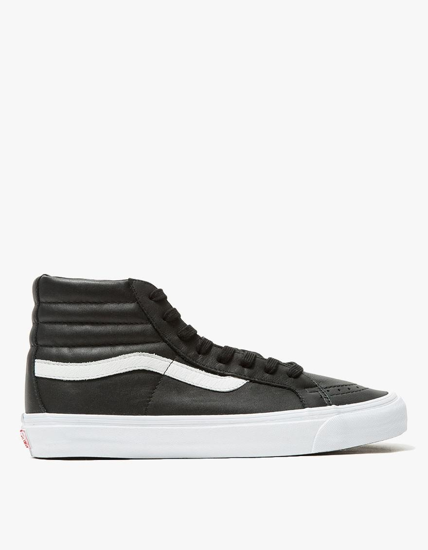 8e6a34c61abe1d ... available 0df94 fba5e Lyst - Vans Og Leather Sk8-hi Lx in Black for Men   authentic ...