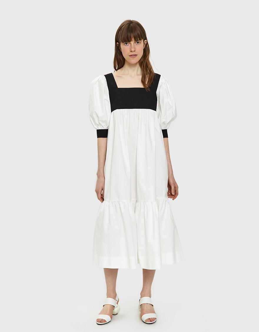 f1ac4cd039f5d6 Maryam Nassir Zadeh Yara Poplin Dress in White - Lyst