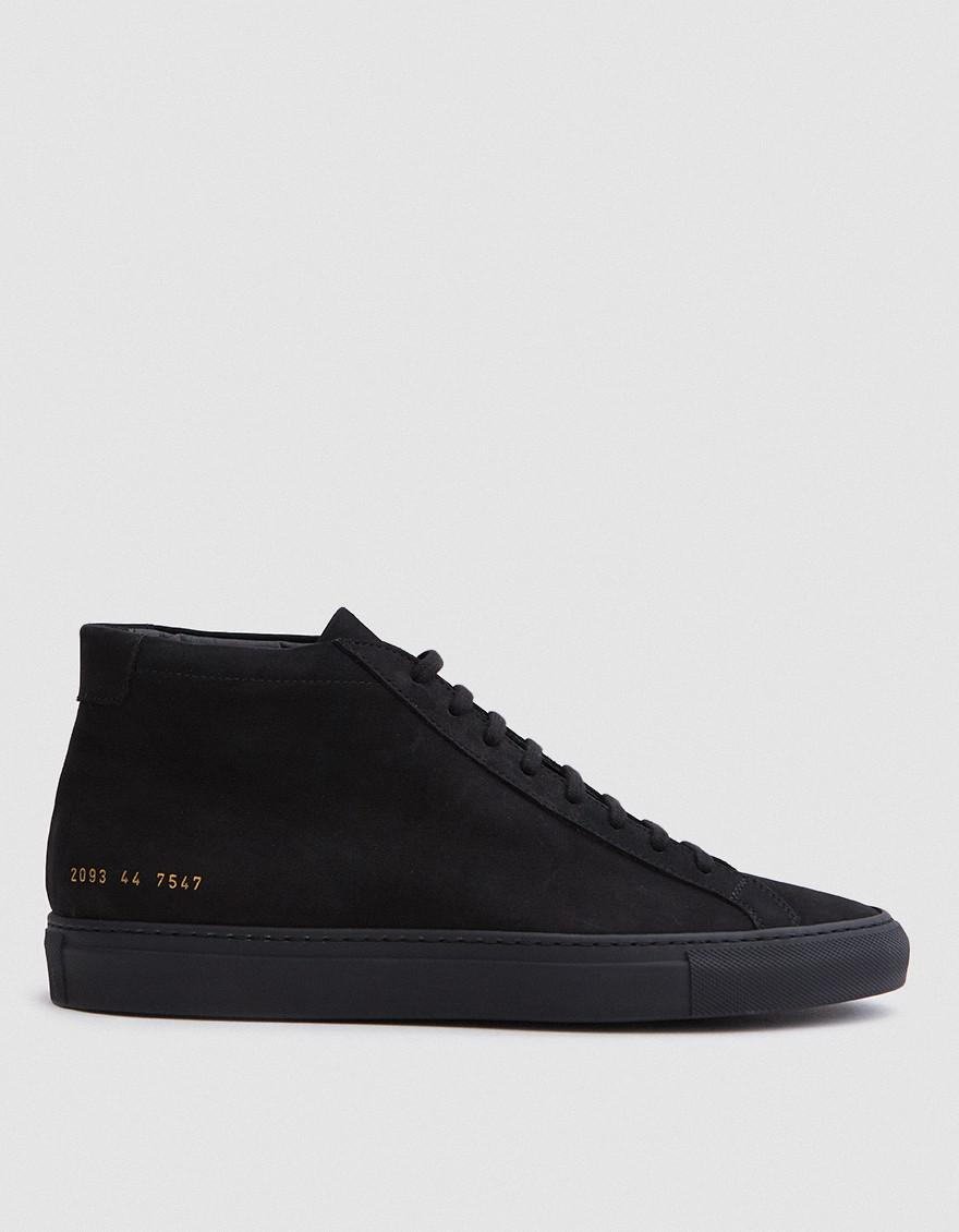 Black Nubuck Original Achilles Mid Sneakers Common Projects 60NXiB5