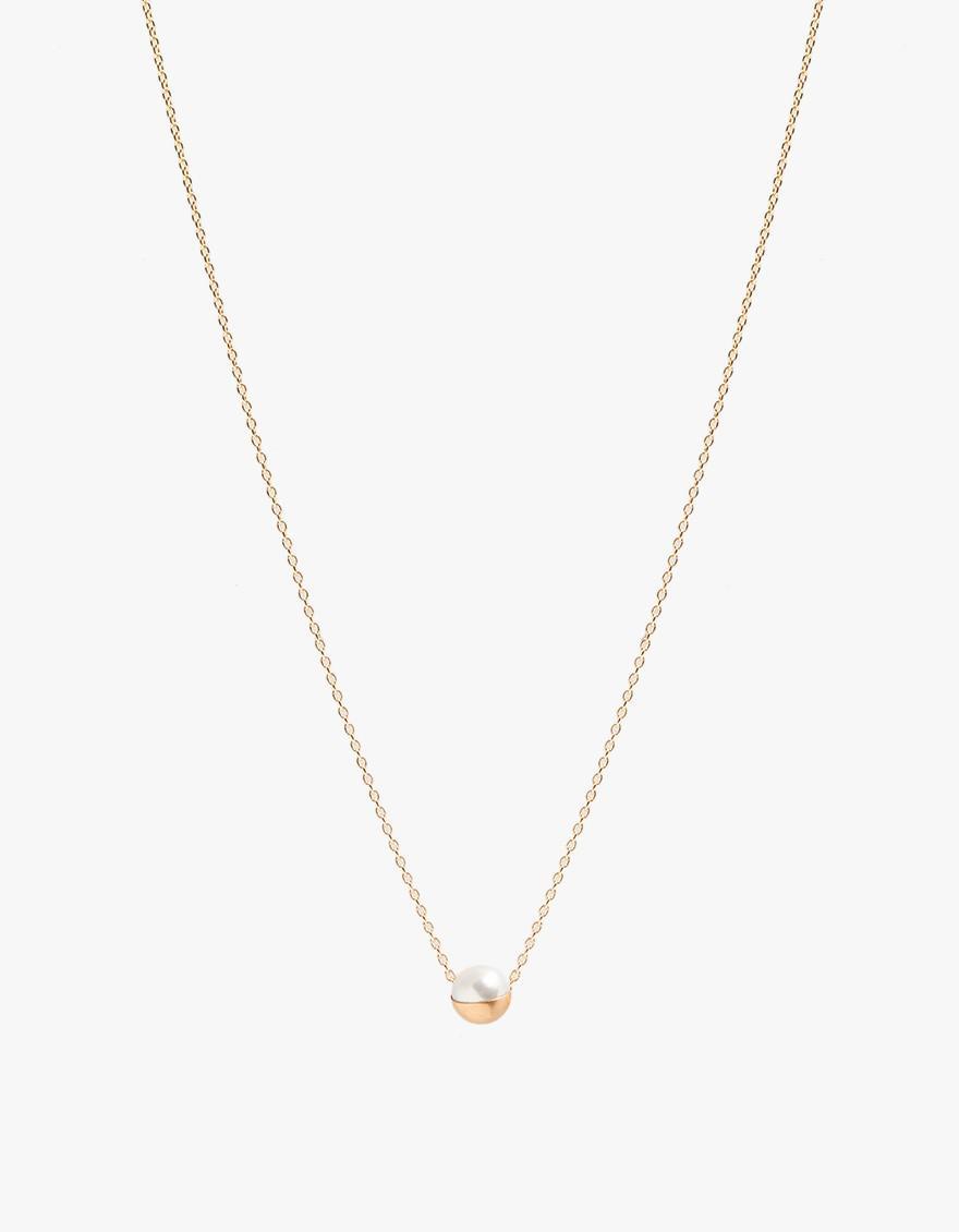 Shihara capped pearl necklace - Metallic sceqG8VSdh