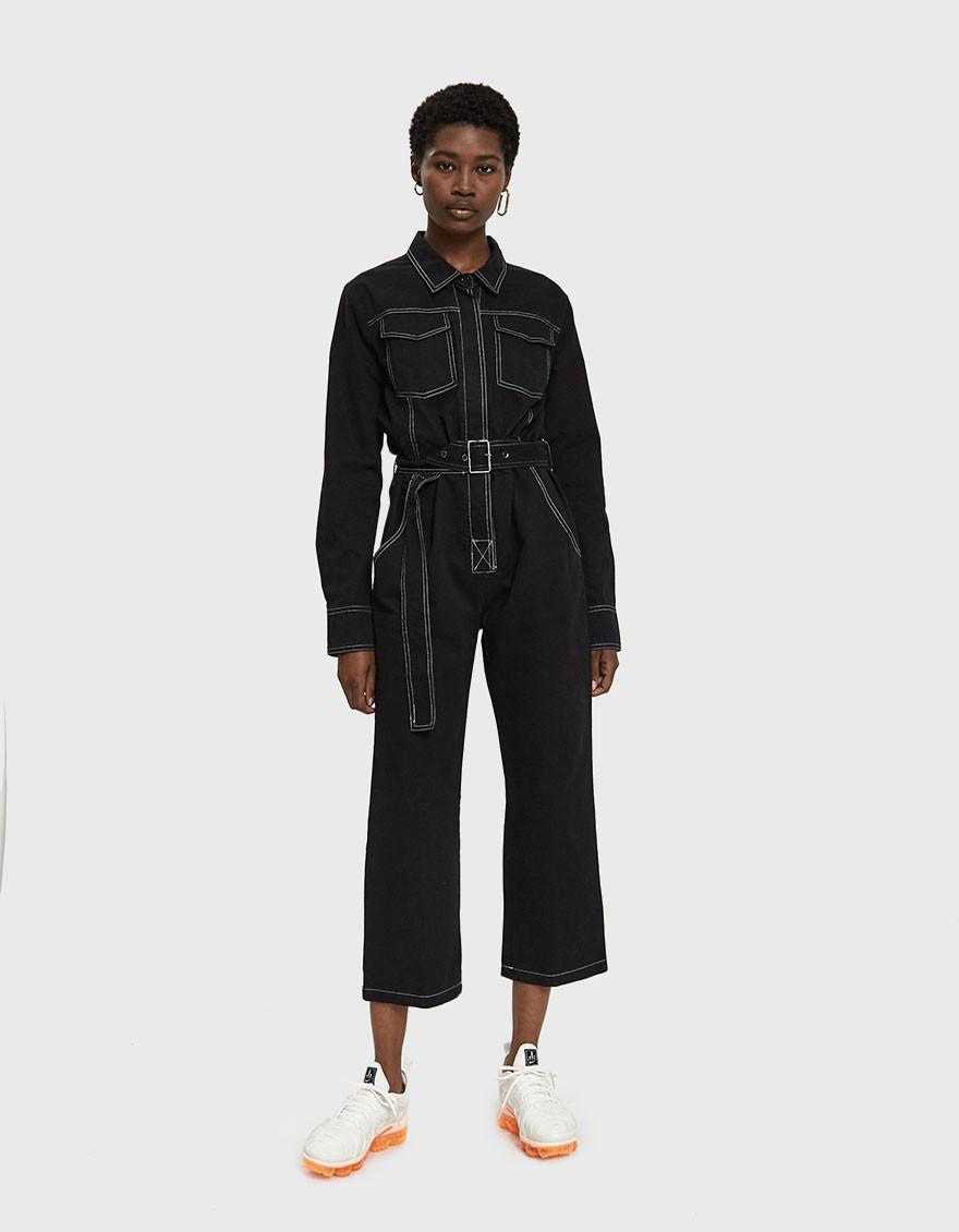 776f28480e08 Farrow - Black Parson Workwear Jumpsuit - Lyst. View fullscreen