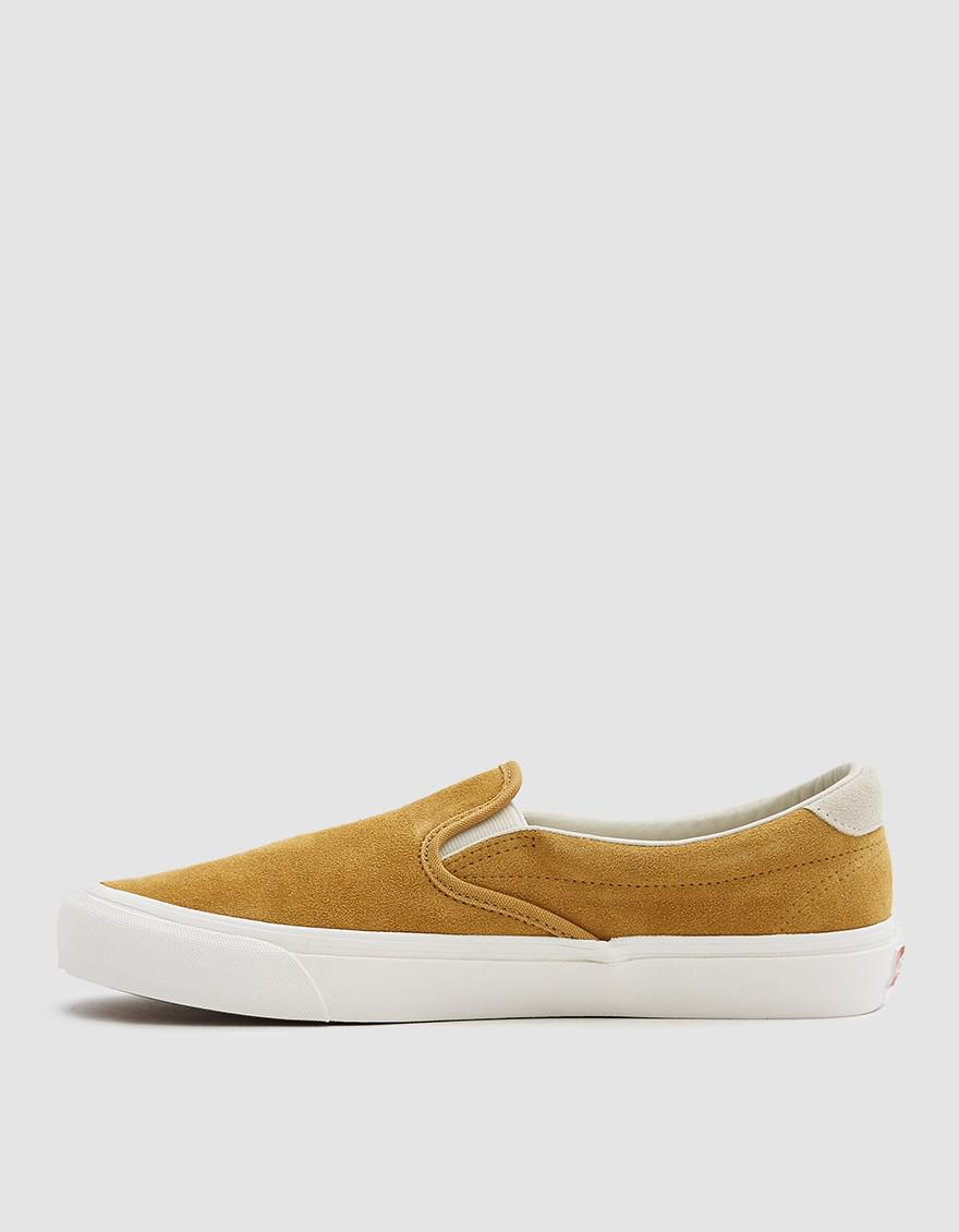 300d85ff03 Lyst - Vans Og Slip-on 59 Lx Suede Sneaker In Honey Mustard ...