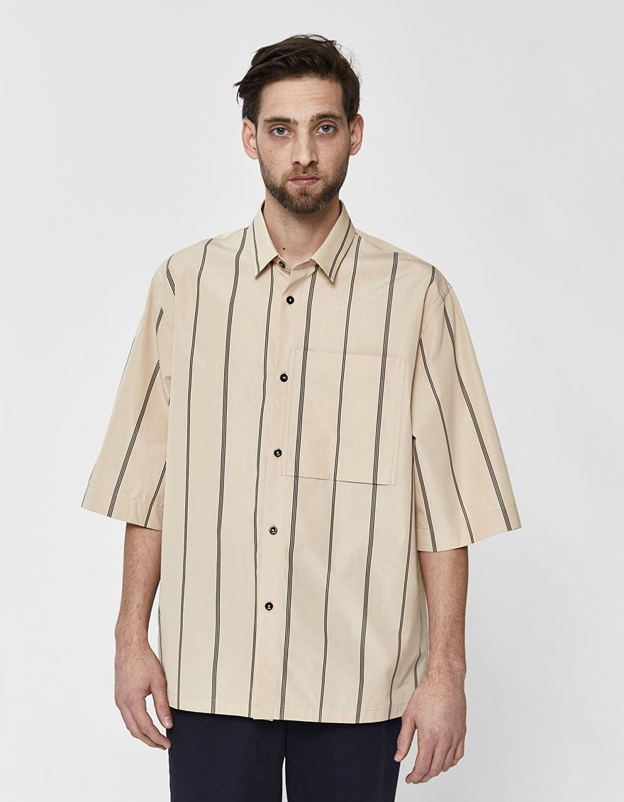 f0522fba Jil Sander Silence Ff Button Up Shirt in Natural for Men - Save 38% - Lyst