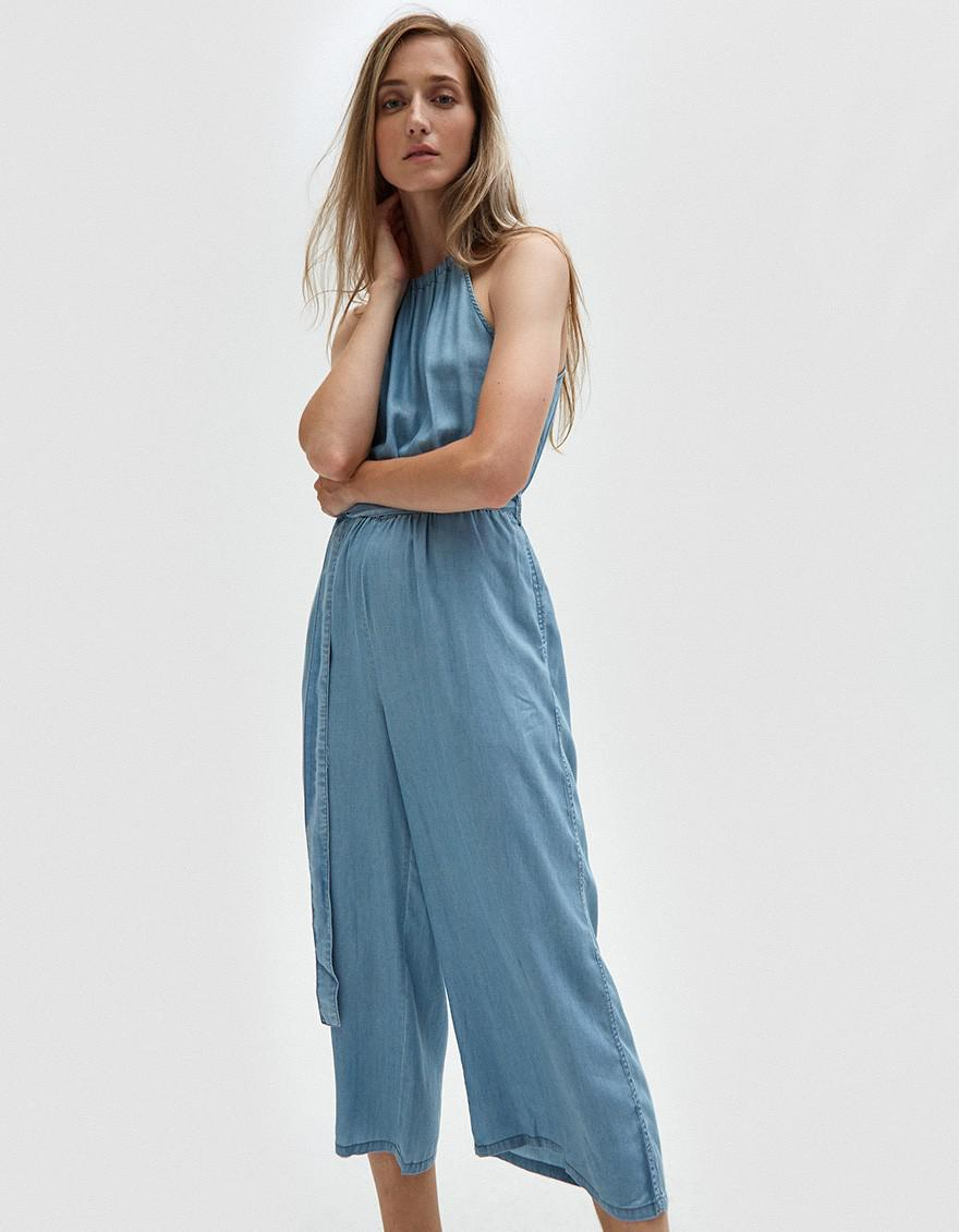 719e02dffa30 Lyst - Farrow Chambray Jumpsuit in Blue