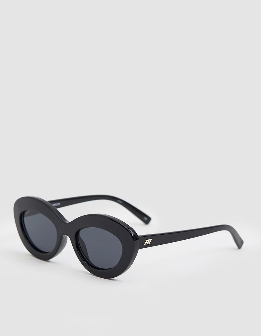 4b2dc5f337 Lyst - Le Specs Fluxus Sunglasses in Black