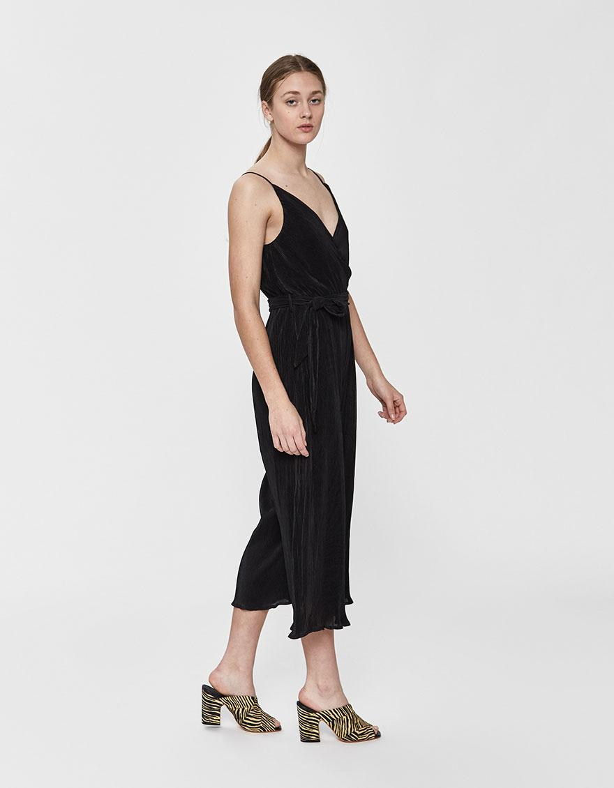 bc64a8f0bc9e Lyst - Stelen Chantelle Pleated Jumpsuit in Black