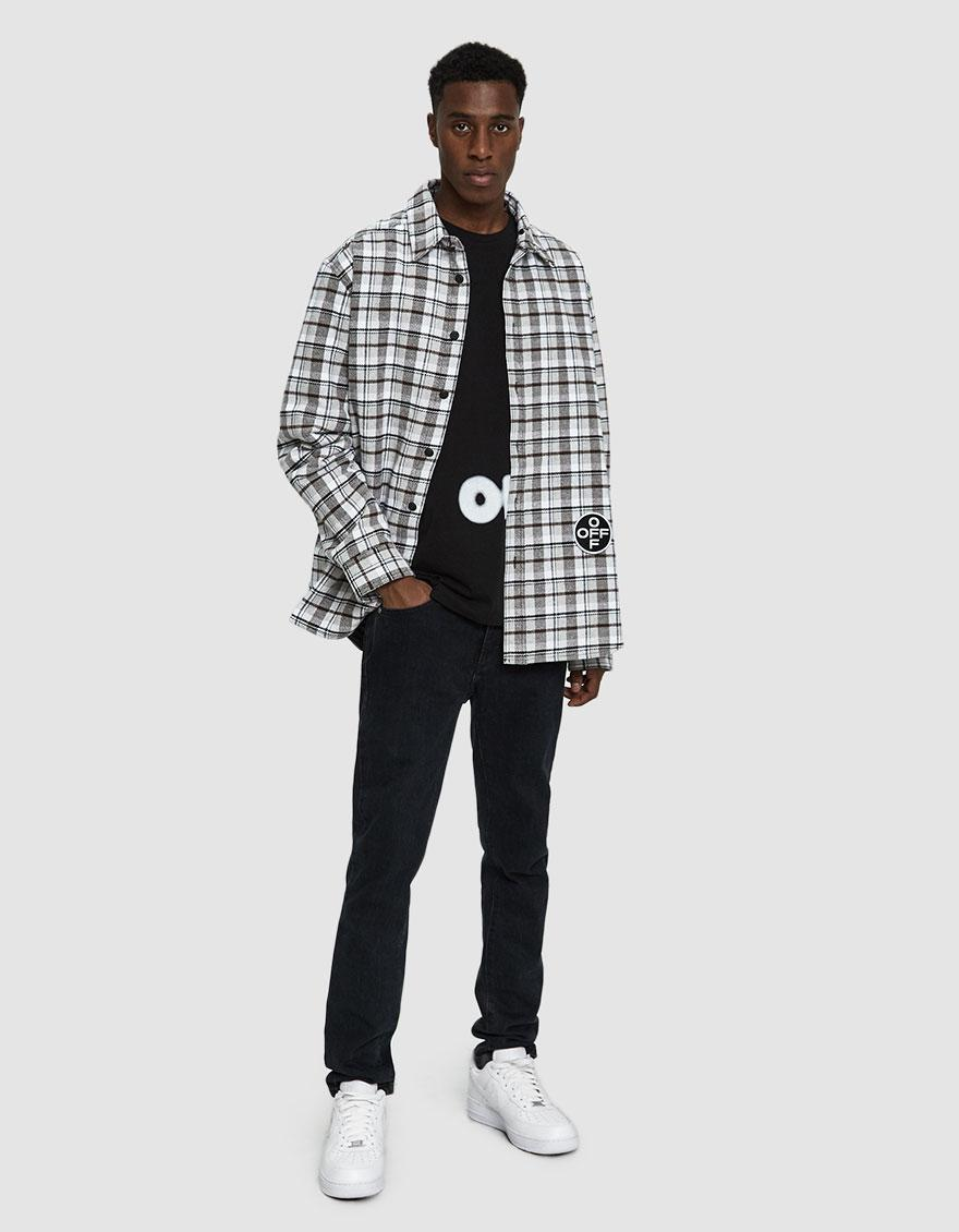 ebbdc1c9660c Lyst - Off-White c o Virgil Abloh Check Hoodie Shirt in Gray for Men - Save  59%