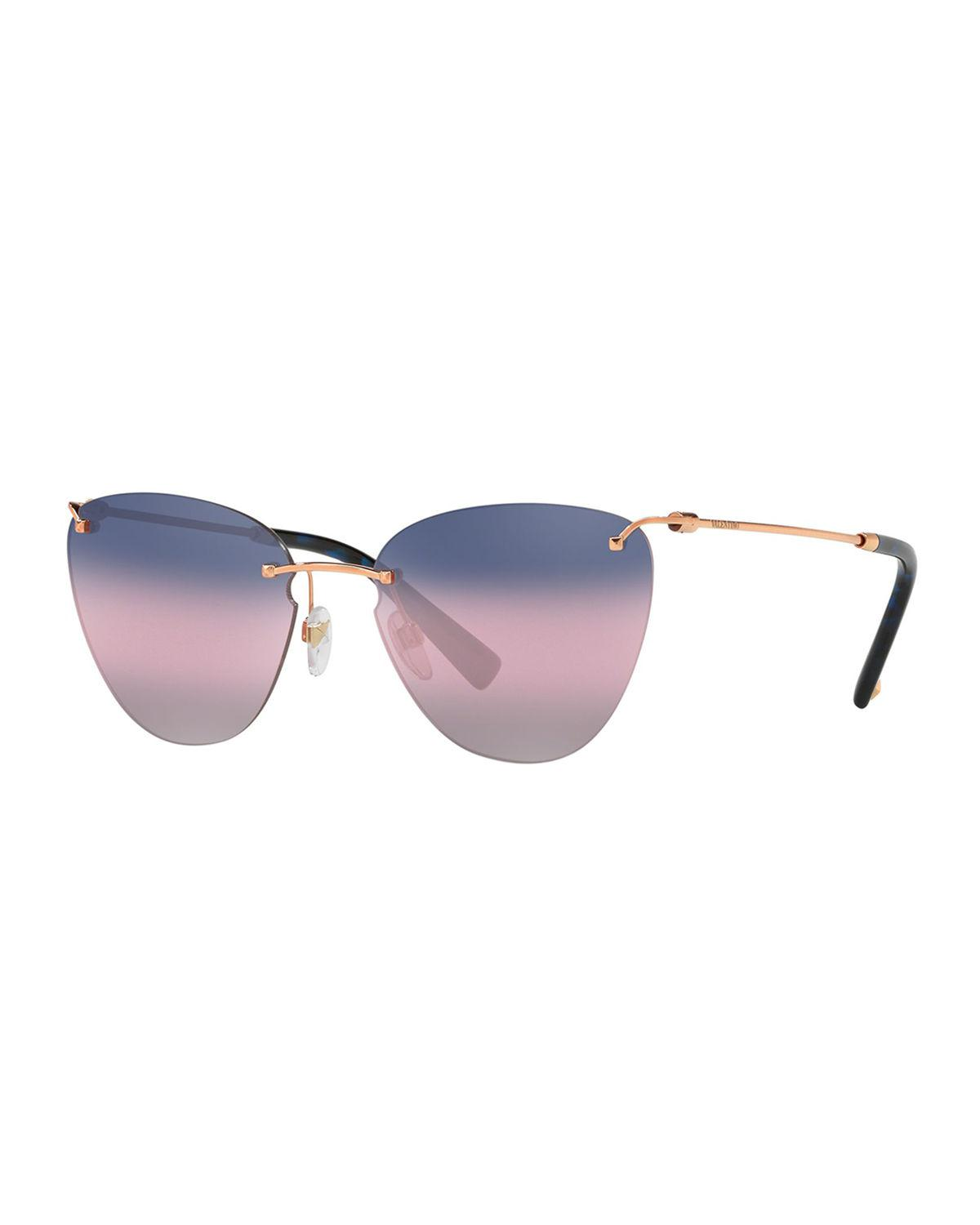0aee70f2157 Lyst - Valentino Va2022 Women s Cat s Eye Sunglasses