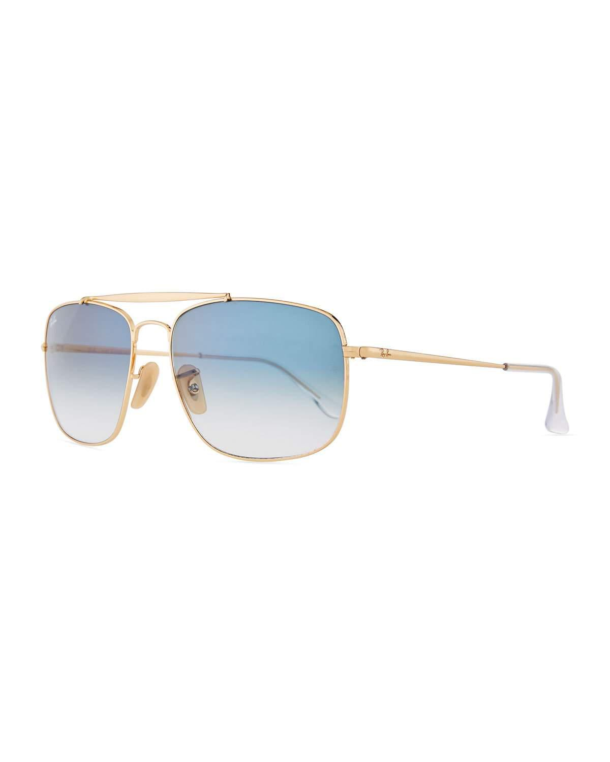 9dbf904d34c678 Lyst - Ray-Ban Rb3561 001 3f General Gold Aviator Sunglasses in Metallic