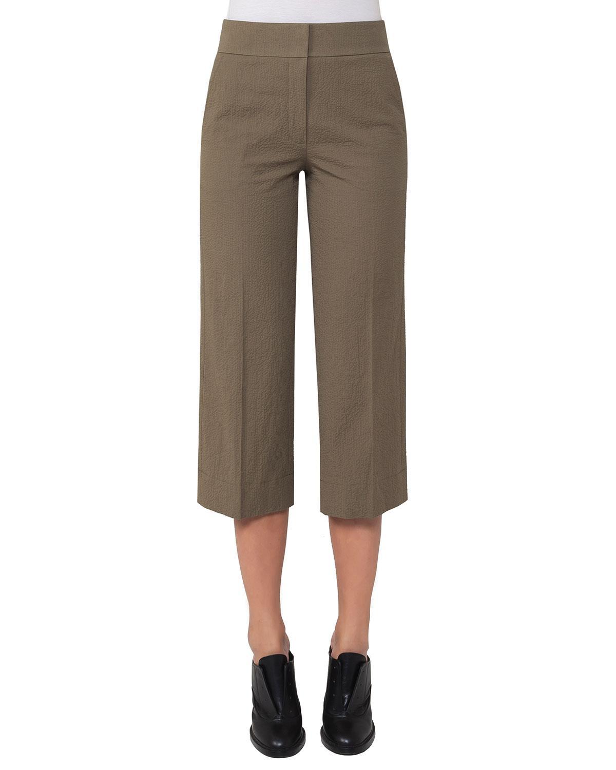 c3f69c81cb8a Lyst - Akris Punto Madison Seersucker Cropped Straight-leg Pants