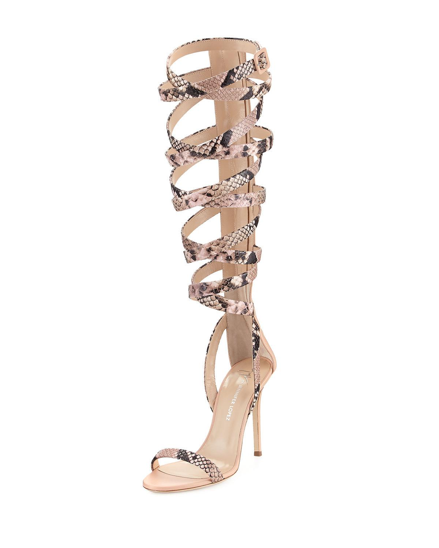 c55174bd769 Lyst - Giuseppe Zanotti Emme 105mm Gladiator Sandal in Pink