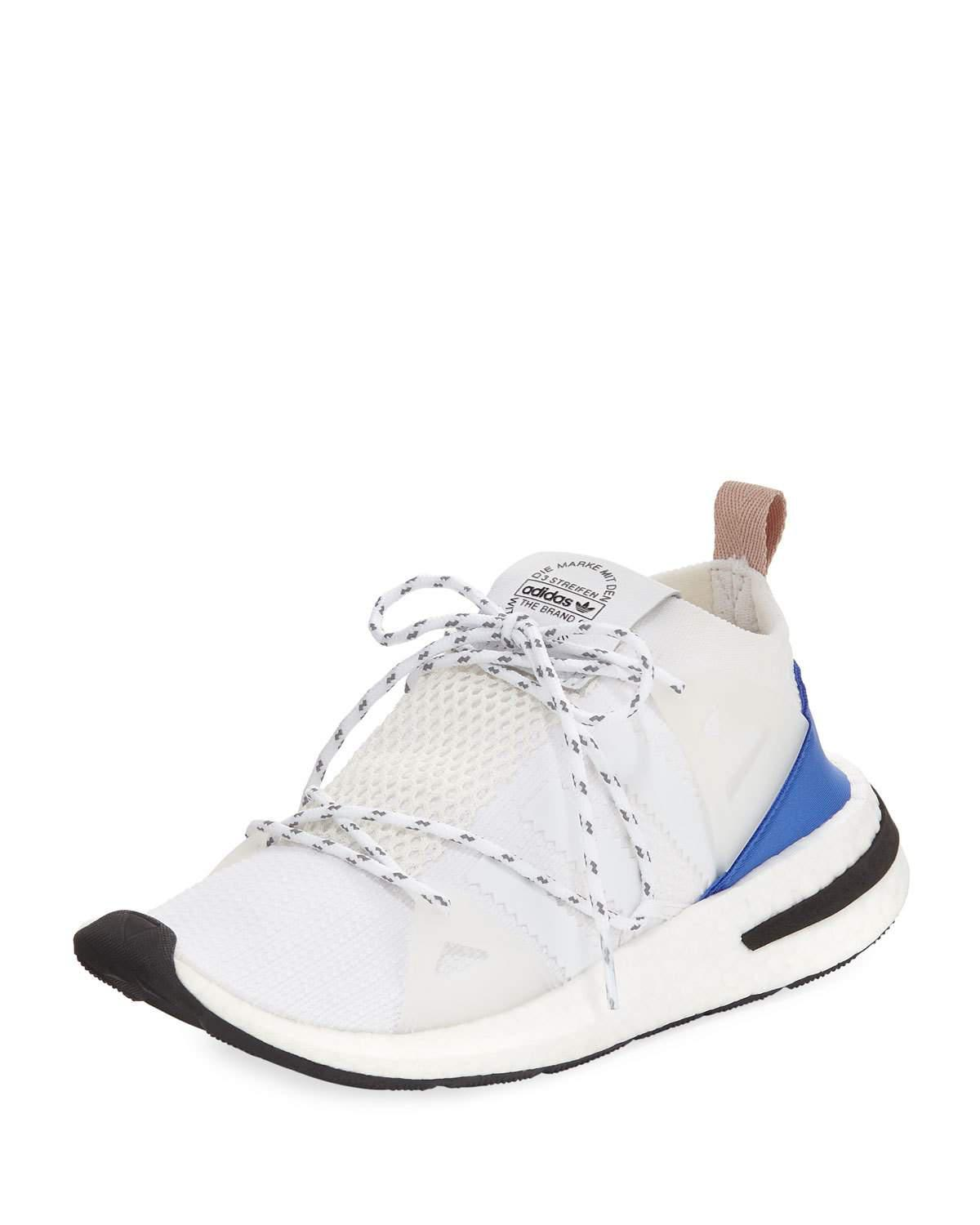 Arkyn Suede-trimmed Mesh Sneakers - White adidas Originals