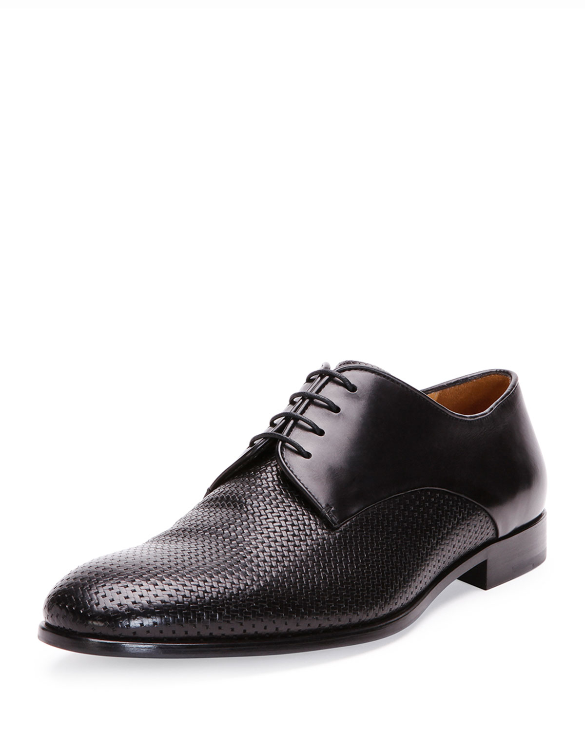 Giorgio armani Woven Leather Dress Shoe for Men | Lyst