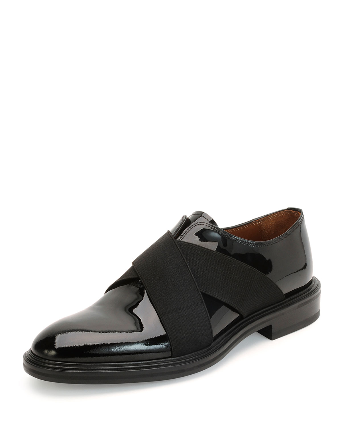 Givenchy Crisscross Patent Leather Shoe in Black for Men | Lyst