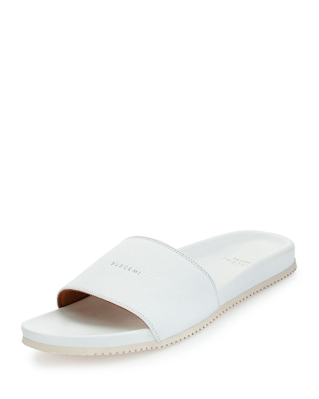 99e859c23f72 Lyst - Buscemi Leather Slide Sandal in White for Men