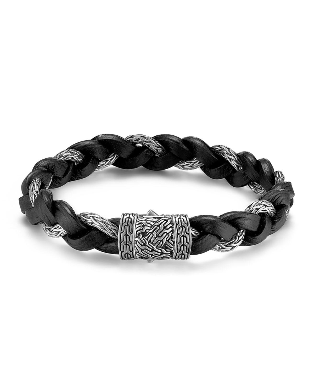 John Hardy Men S Classic Chain Silver Braided Bracelet W