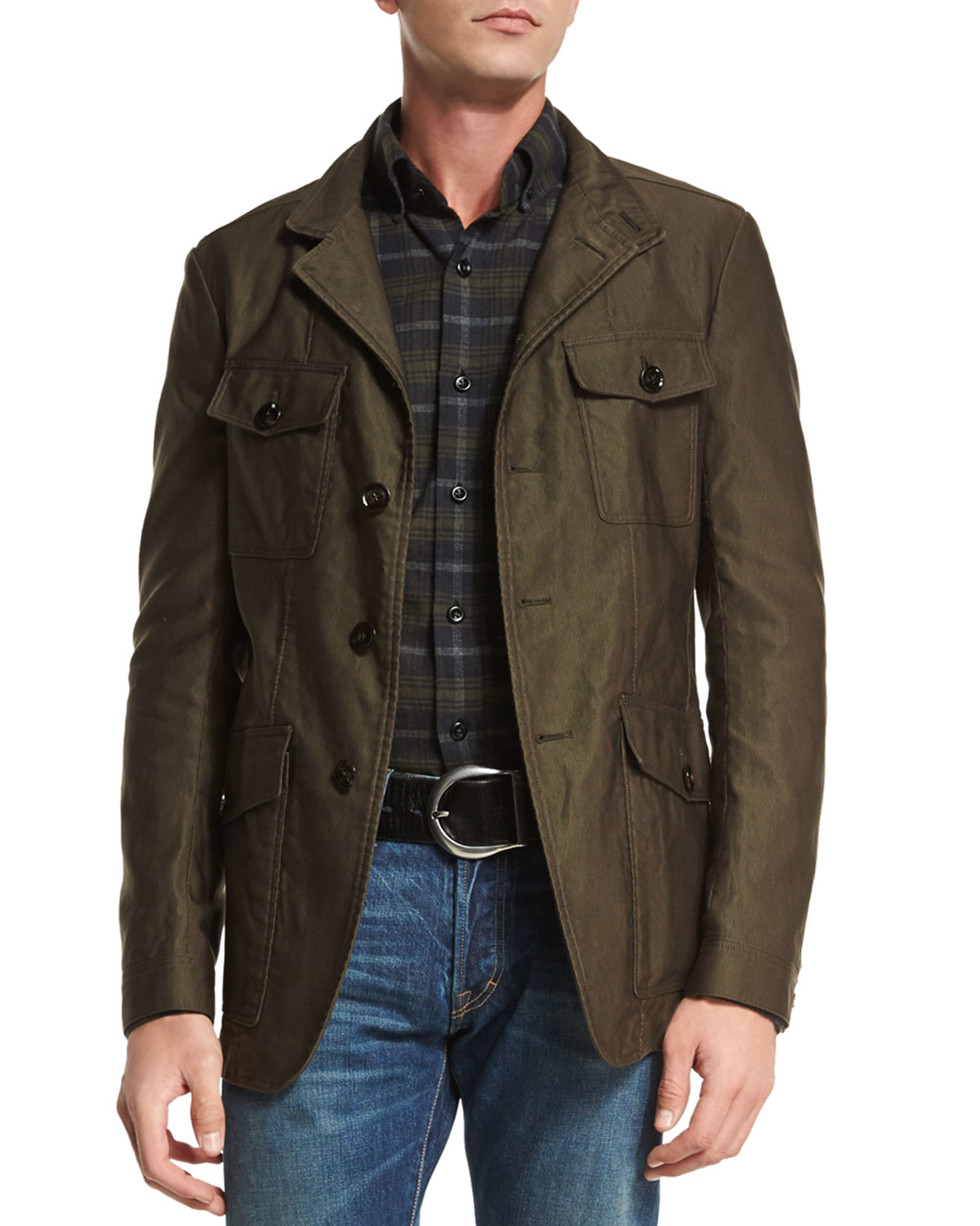lyst tom ford corded lightweight military jacket in. Black Bedroom Furniture Sets. Home Design Ideas