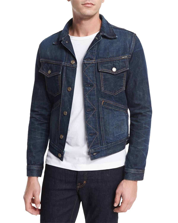 Tom Ford Western Denim Jacket In Blue For Men Lyst