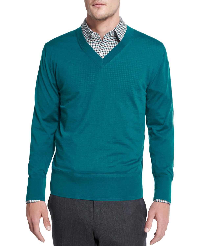 lyst tom ford lightweight cashmere v neck sweater in. Black Bedroom Furniture Sets. Home Design Ideas