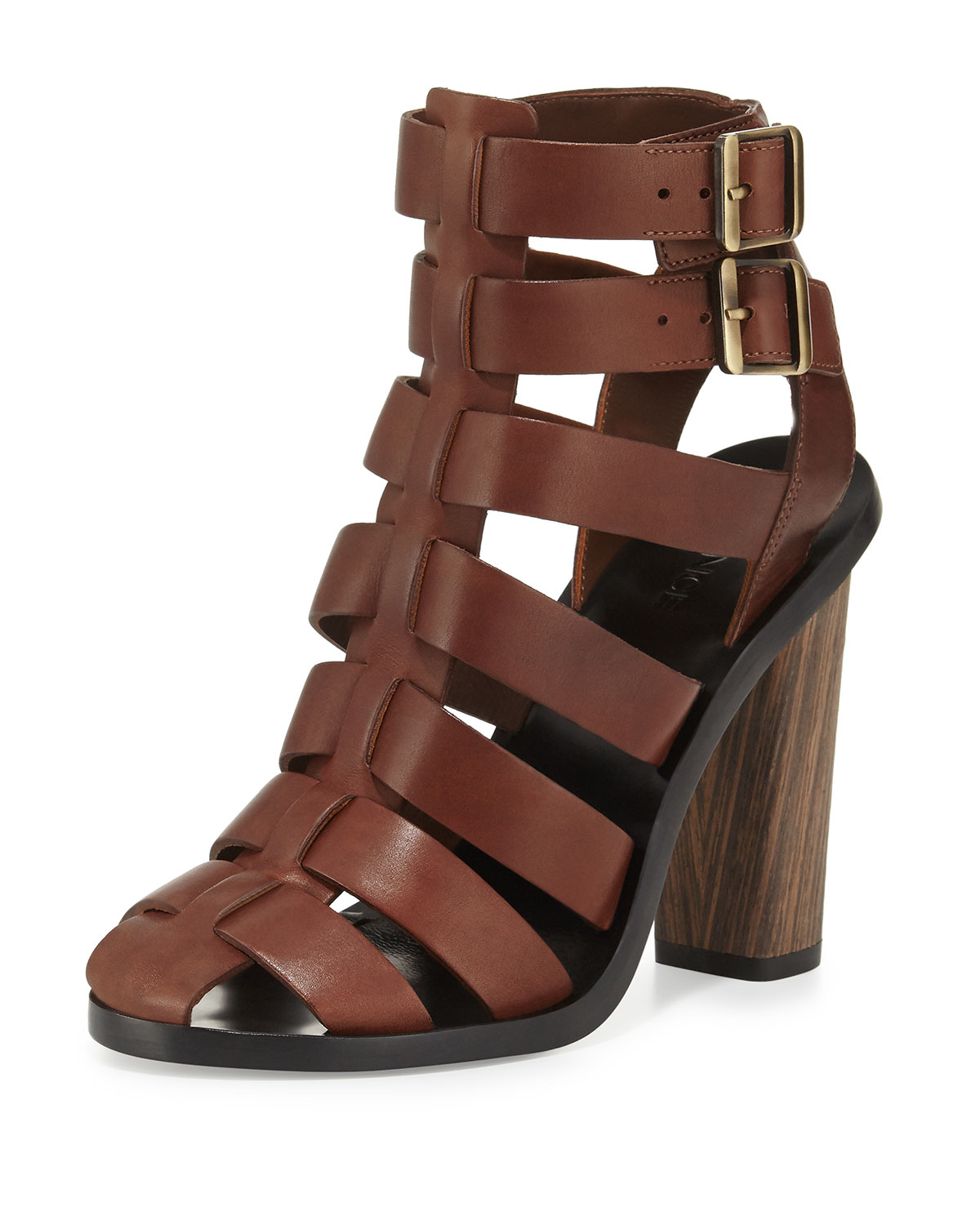 Vince Nicolette Strappy Leather Sandal In Brown Lyst