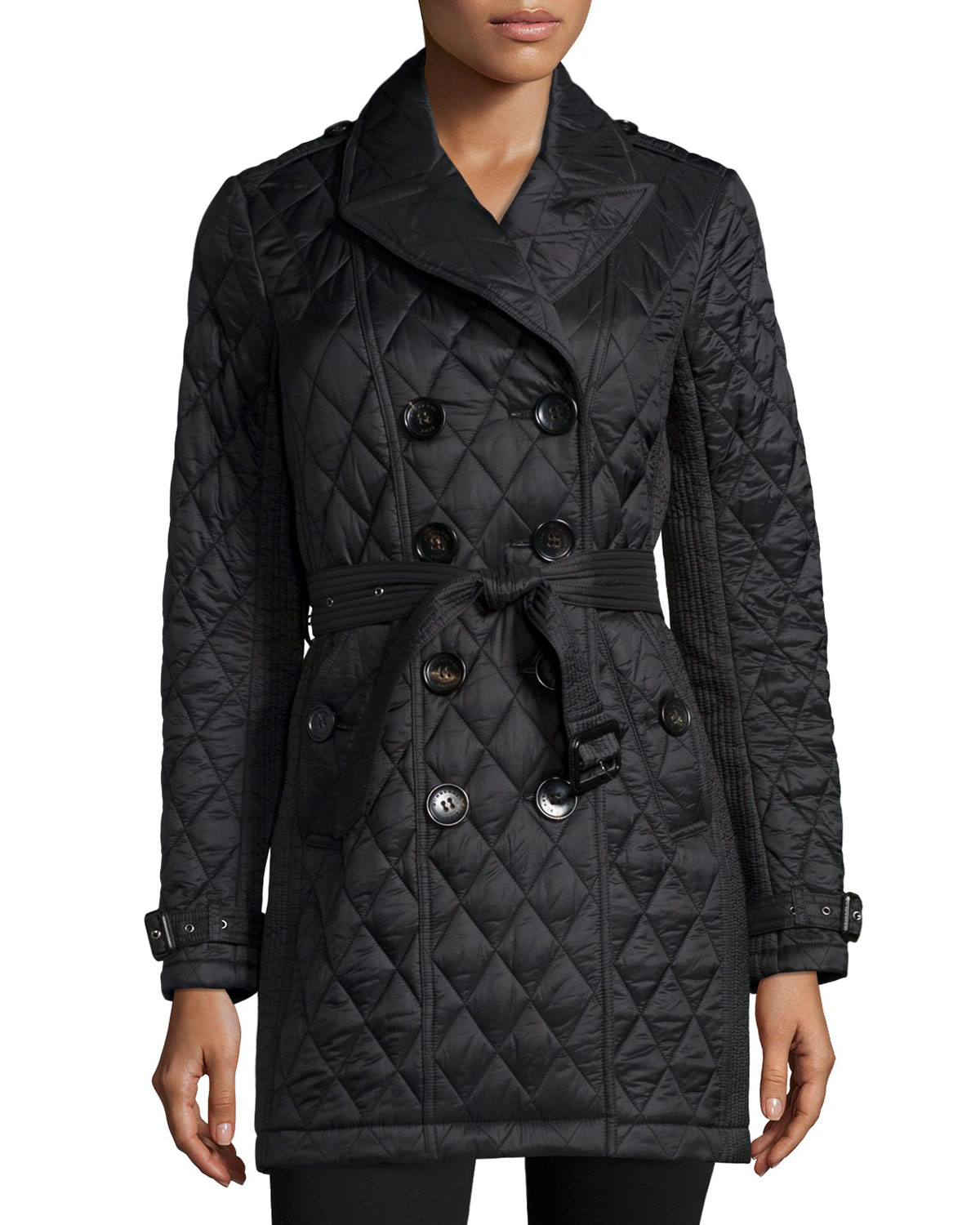 Lyst Burberry Brit Goldsmeade Lightweight Quilted Trench