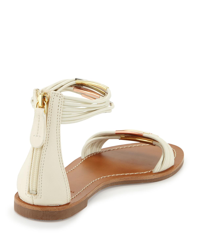 e407df0cb766 Lyst - Tory Burch Mignon Braided Flat Sandal in White